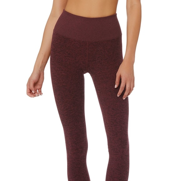 937903603211 ALO Yoga High-Waist Lounge Legging (Black Cherry)